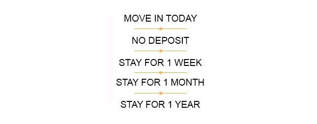Move in Today, No Deposit